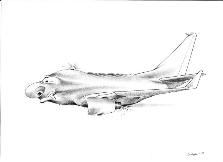 Pencil fantacy airplane. Might well be a B-737