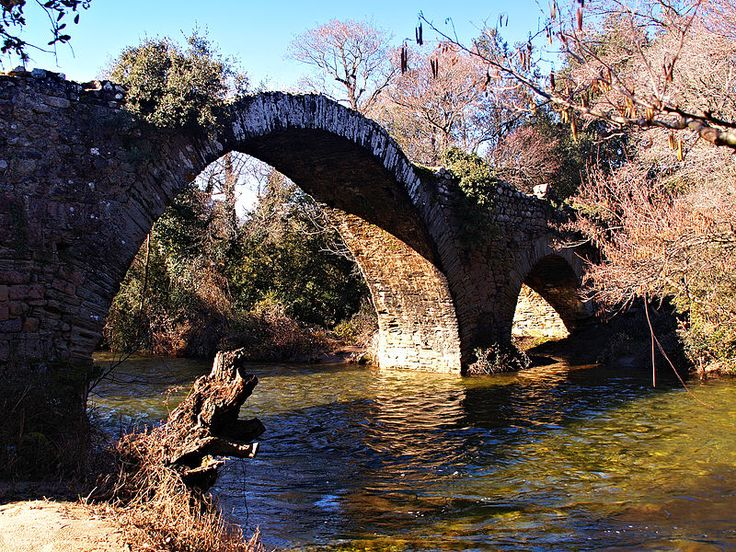 Moltifao (Haute-Corse) -Pont Genois de Caccia basse vallée d'Asco