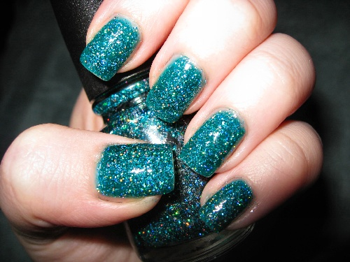 Extreme Dark Turquoise Super Sparkly Nails For Kayla In 2018 Pinterest Glitter And Nail Art