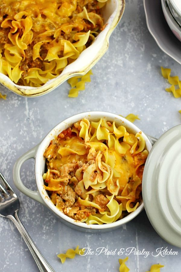 Best Ever Beefy Noodle Casserole- Just like the classic you remember as a kid only all grown up! This is a perfect weeknight meal your family will love! #beefnoodlecasserole, #casserole, #noodlecasserole