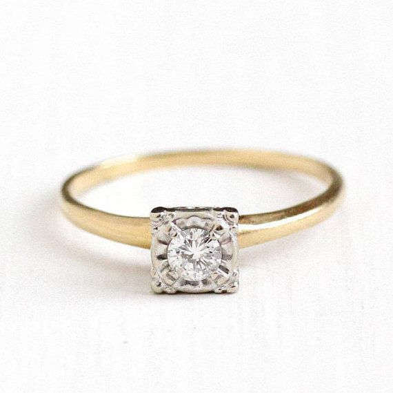 Reserved Sold To E Via Layaway 1st Payment 1940s Vintage Engagement Rings 1940s Engagement Ring Engagement Rings