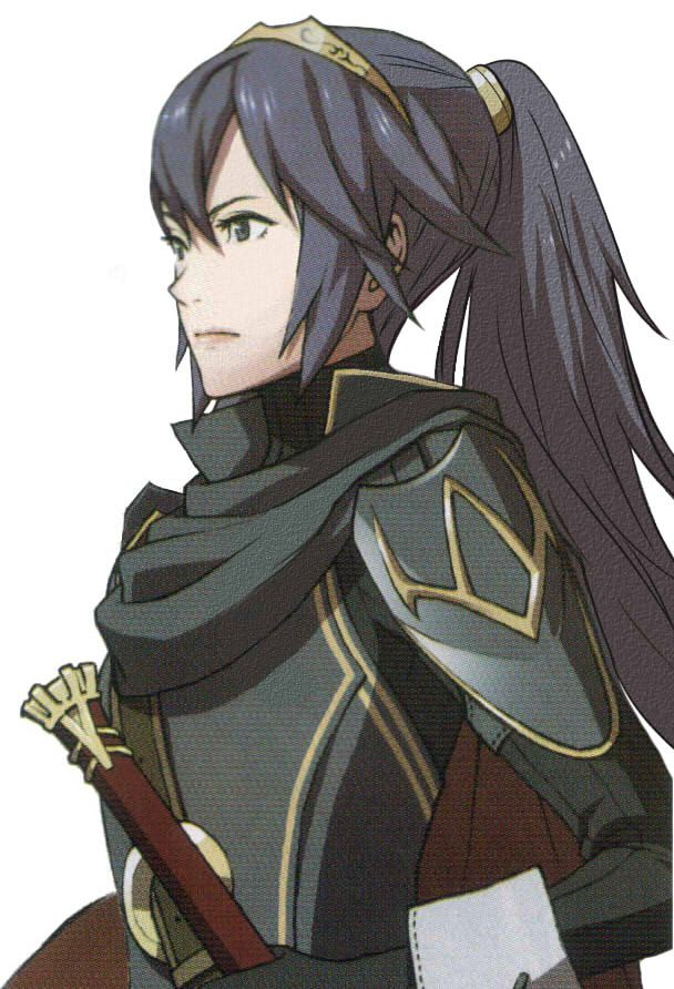 With her hair like that, it kind of reminds me of Lyn.