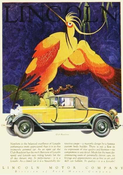 Love The Lincoln ads with the tropical birds