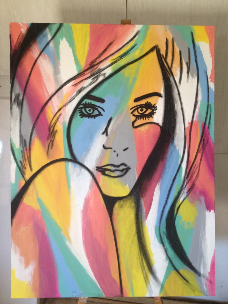 Inkandrubystudios art girl painting colour