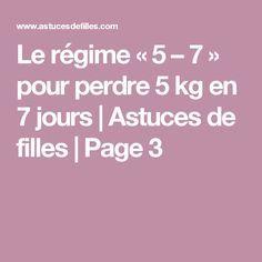 Le régime «5 – 7» pour perdre 5 kg en 7 jours | Astuces de filles | Page 3