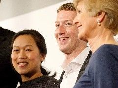 "Charles Yunck / Axel Springer SEPriscilla Chan and Mark Zuckerberg in Berlin receiving the first Axel Springer Award.Facebook founder and CEO Mark Zuckerberg sat down with Axel Springer CEO Mathias Döpfner for the German newspaper ""Die Welt am Sonntag"" last week in Berlin. Zuckerberg was given the fi"
