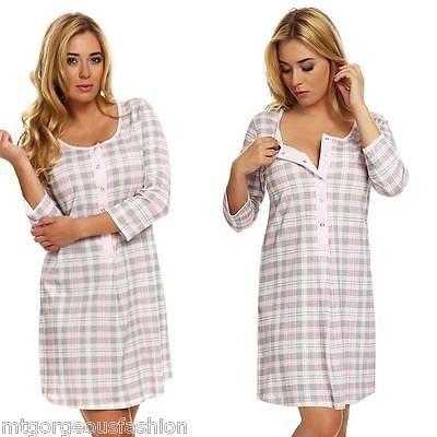 Maternity #pregnancy #breastfeeding nursing #nightdress uk size 8 10 12 14 16,  View more on the LINK: http://www.zeppy.io/product/gb/2/131481163099/