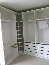 Resultado de imagem para como projetar um armário em L para quarto ou closet canto