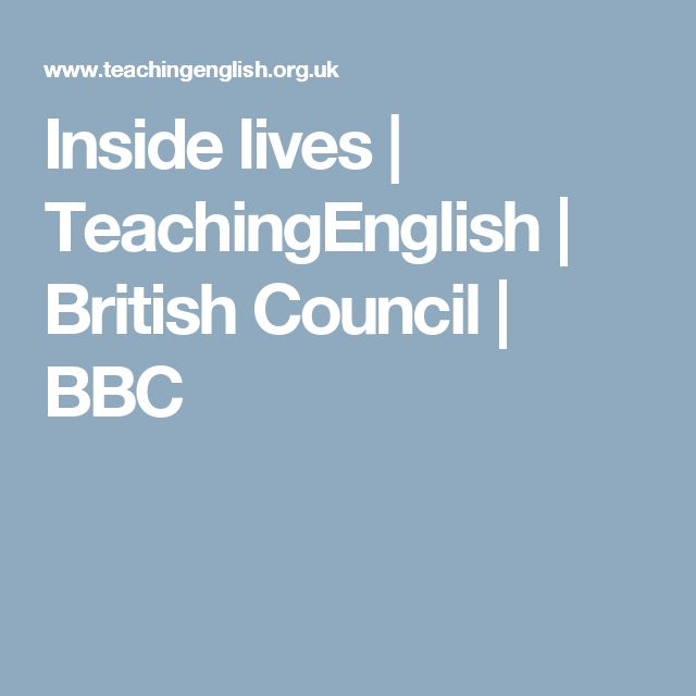 Inside lives | TeachingEnglish | British Council | BBC