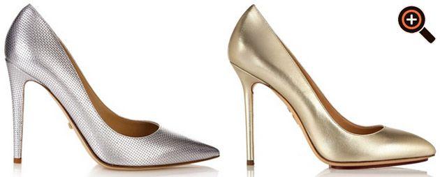 Glitzer High Heels - silber & gold - Nieten & Strass - Louboutin, Zanotti, Blahnik