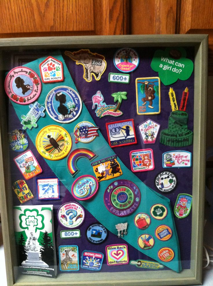 Girl Scout Badges Shadow Box Need To Do This With My Sash