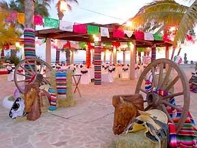 beautiful colourful beach wedding