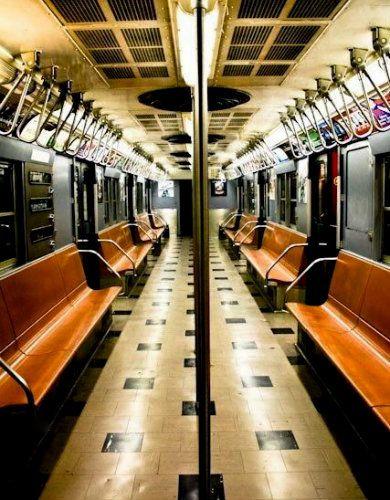 inside train NYC