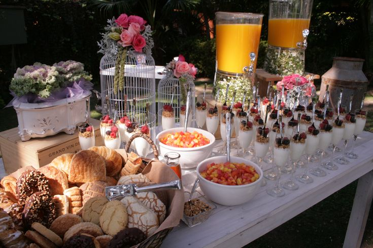 Mexican beverage and dessert station.  Wedding, brunch, party, food ideas.