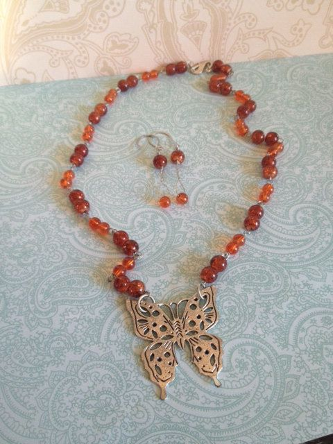 Butterfly Statement Necklace 18 by BeyondtheWire on Etsy