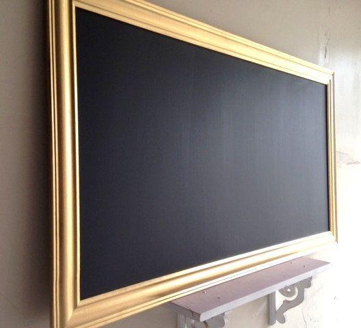 Extra Large CHALKBOARD Modern Blackboard for sale Decorative Chalkboard Long Kitchen Chalkboard Chalk Board Metallic Gold - MORE COLORS on Etsy, $198.00