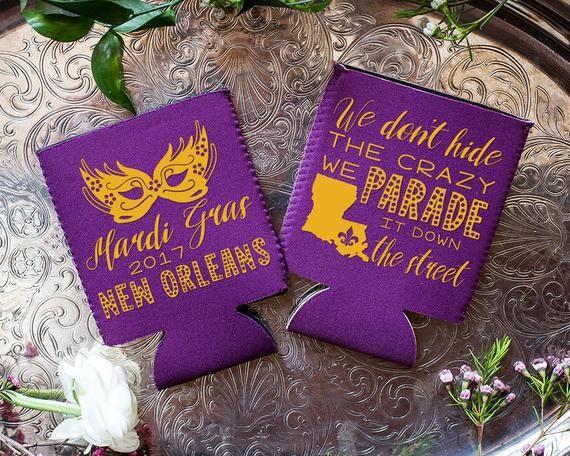 Neoprene 1675 Mardi Gras Wedding Gifts Mardi Gras Wedding NOLA Wedding New Orleans Wedding Mardi Gras Party Mardi Gras Line Parade