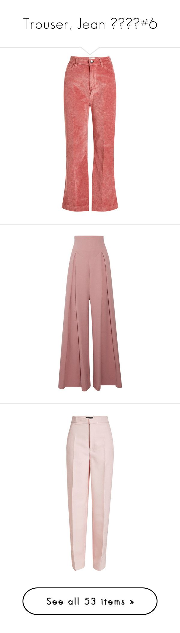 """""""Trouser, Jean 👖👖🌡🌡#6"""" by janelee8598 ❤ liked on Polyvore featuring pants, bottoms, trousers, pink, red flare pants, high waisted flared trousers, pink flare pants, velvet flare pants, high waisted pants and emilia wickstead"""