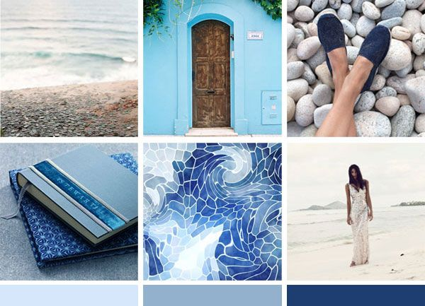 The inspiration for our blue mosaic destination wedding invitation.