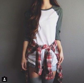 top white grey baseball tee sleeves cool cute girl teenagers sporty indie sportswear jersey summer spring fall outfits winter outfits tumblr alternative rock