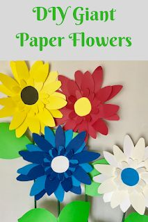 Metro Detroit Mommy: Make it With Me!: DIY Giant Paper Flowers