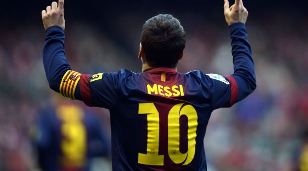Lionel Messi Player Back