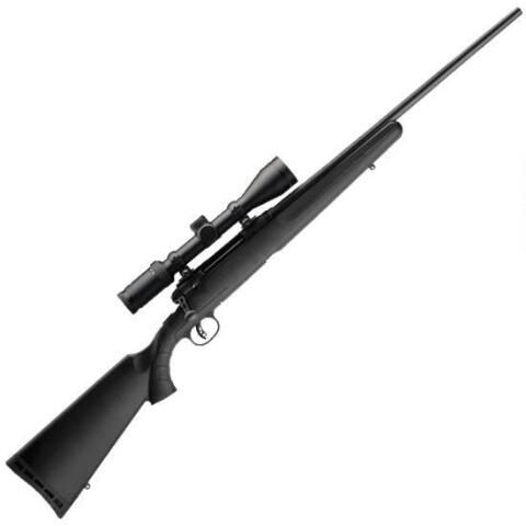 """Savage Arms Axis II XP Bolt Action Rifle with Weaver Kaspa 3-9x40mm Riflescope .223 Remington 22"""" Barrel 4 Rounds Synthetic Stock with AccuTrigger Matte Black Finish 22221 - 011356222213"""
