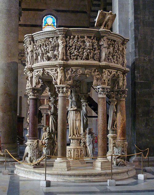 Giovanni Pisano, Pulpito del Duomo di Pisa, 1302-1310
