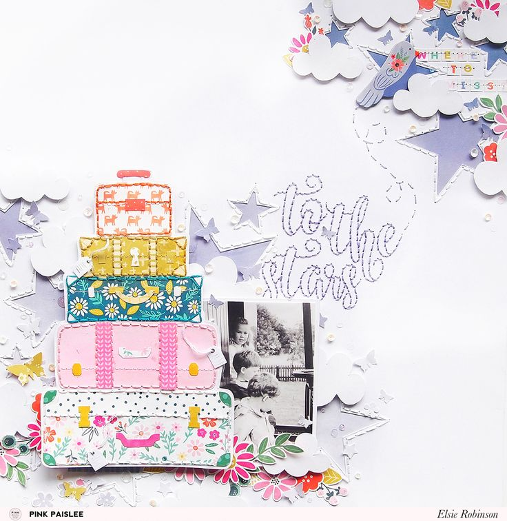 Get to know scrapbooker Elsie Robinson and see the gorgeous layout she made using Oh My Heart! @heyelsie @pinkpaislee #pinkpaislee #ppohmyheart #scrapbooking