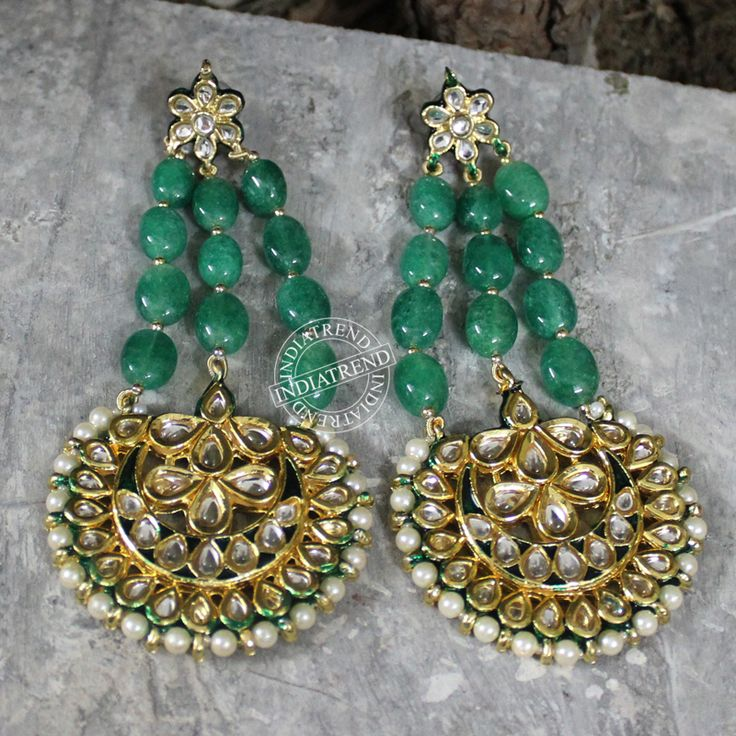 AADRIKA EARRINGS by Indiatrend. Shop Now at WWW.INDIATRENDSHOP.COM