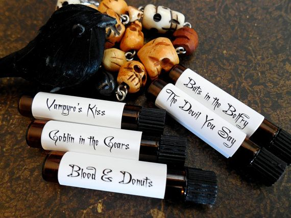 HALLOWEEN Perfume Sampler Set  2  Things by DeepMidnightPerfumes, $15.00