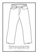 Clothes colouring sheets (SB4248) - SparkleBox