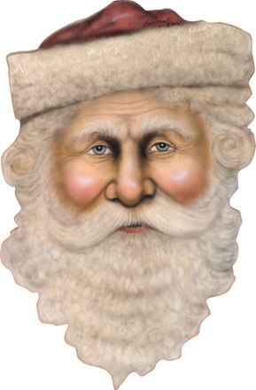 Santa Face - A Christmas Decoration & Display from Cottages and Gardens