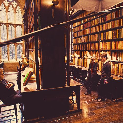 Emma Watson and Daniel Radcliffe on the location for Harry Potter and the Half-Blood Prince