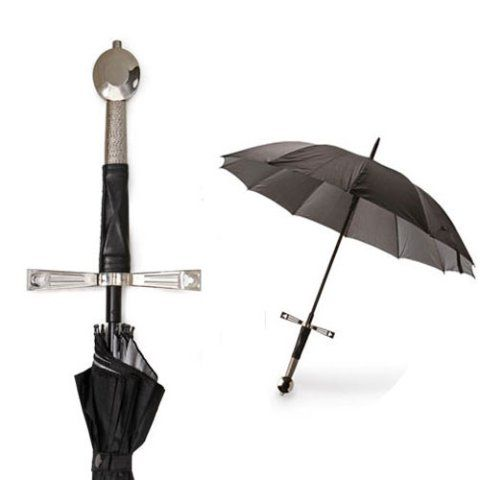 Defend Against the Rain with the Broad Sword Umbrella
