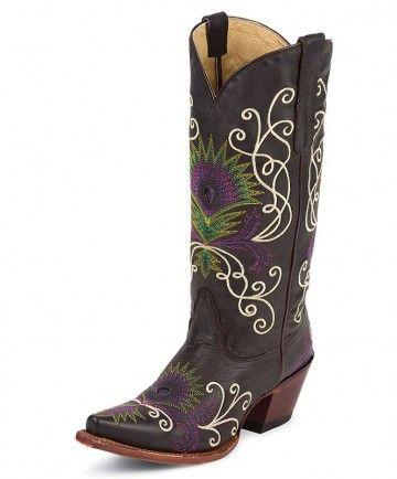 Tony Lama Women's Dark Brown Cowgirl Boots, Fashion Style