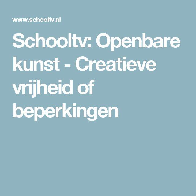 Schooltv: Openbare kunst - Creatieve vrijheid of beperkingen