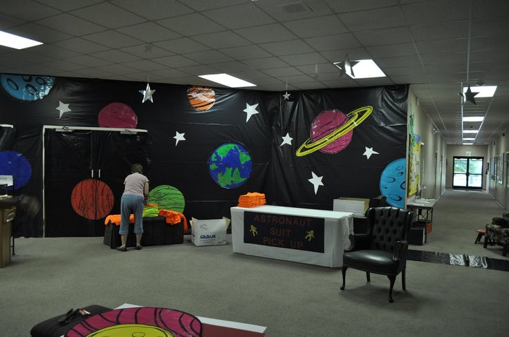 264 best images about vbs galactic starveyors 2017 npbc on for Outer space decor ideas