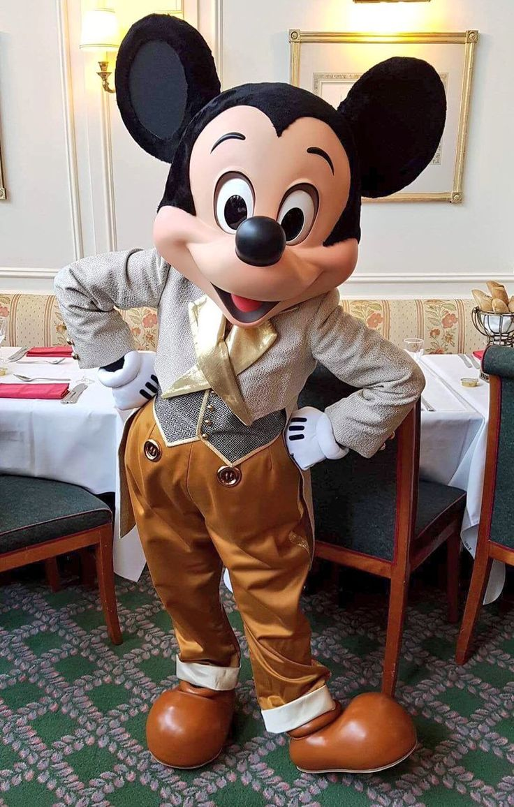 Mickey mouse at the Russian New year brunch in the Inventions restaurant in the Disneyland Hotel in Disneyland Paris DLP
