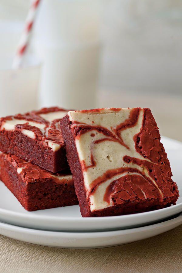10 Decadent Red Velvet Dessert Recipes: Red Velvet-Peppermint Swirl Brownies