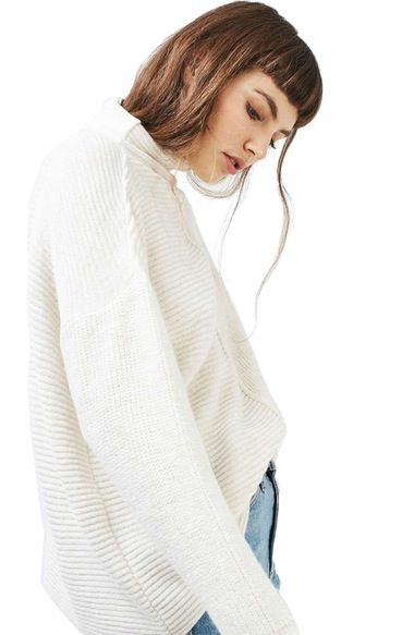 Topshop Mixed Knit Sweater available at #Nordstrom