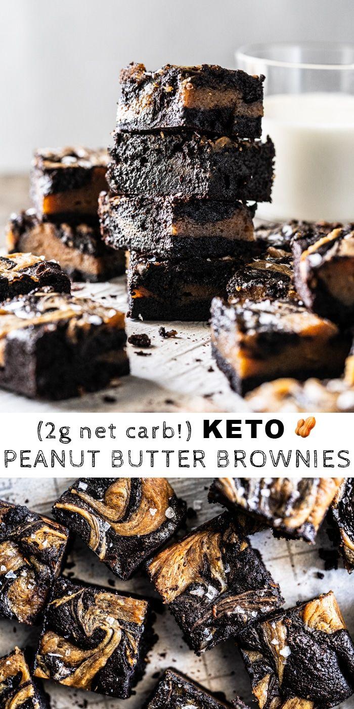 Gluten Free & Keto Peanut Butter Brownies #keto #g…