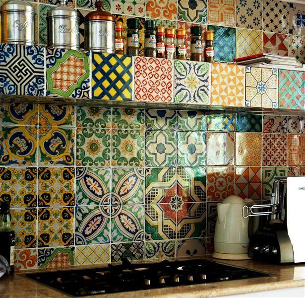 piastrelle per pareti e pavimento cucina. lifestyle in cucina ...