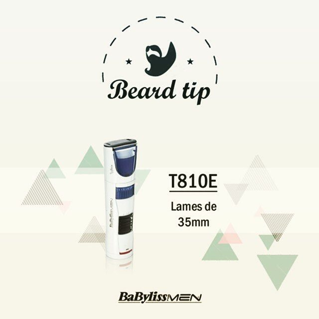 La tondeuse barbe T810E est munie de lames de 35mm les plus larges du marché pour une utilisation plus rapide et une capture totale des poils.  #style #beardgrooming #hommeabarbe #styles #mensgrooming #menstyles #beardgang #haircut #barberlife #barber #bigbeard #corps #instabeard #body #hairstyle #menwithbeard #getbearded #beardofinstagram #beardlover #barbe #beardlife #barbergrade #mensessentials #trimmer #beardagram #cut #menandtheirbeards #babylissformen by babyliss_for_men