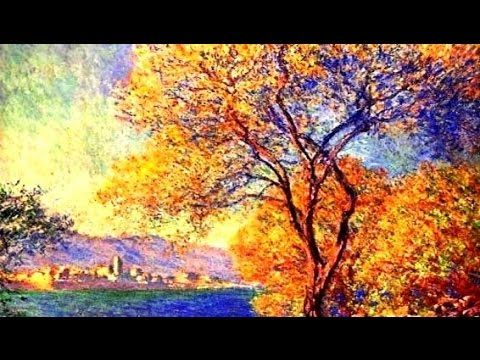 Monet painting. How to paint in impressionists style easy way. Paint landscape in oil or acrylics - YouTube