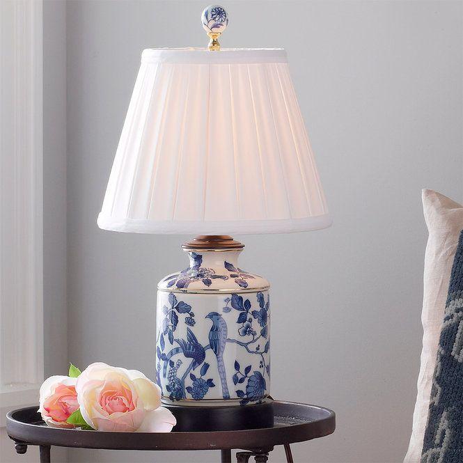 Mini Blue And White Porcelain Jar Table Lamp In 2020 Jar Table Lamp Ginger Jar Lamp Table Lamp