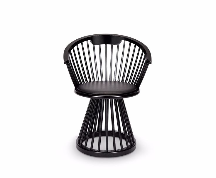 Originally a dramatic and sculptural take on a British design classic, Fan is available as a high back chair, dining chair, stool and table. The stools and chairs have a black leather seat pad, while the chairs feature a curved back, offering support and comfort. Available in Black Birch or Natural Oak.