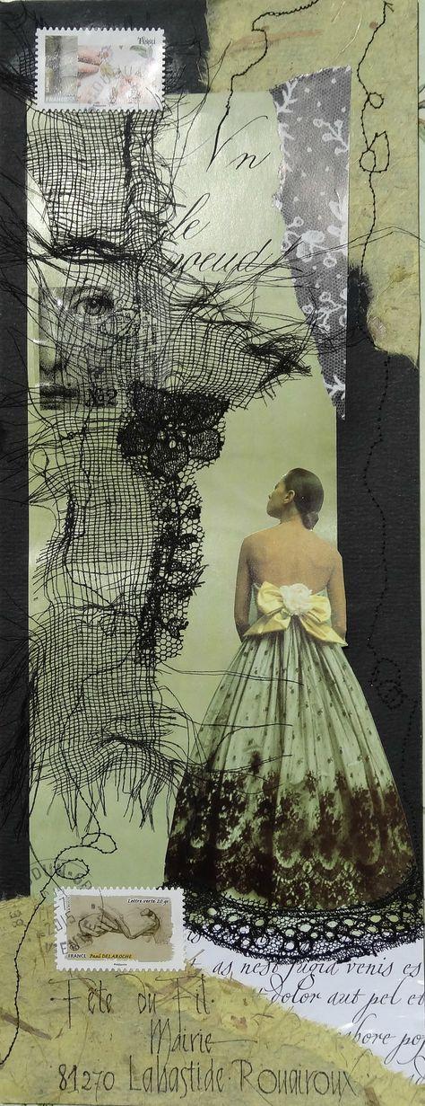 Lemercier Sylvie art postal fête du fil 2015 Plus