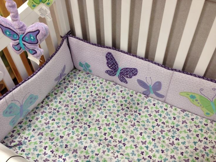Nojo Beautiful Butterfly Crib Bedding Set