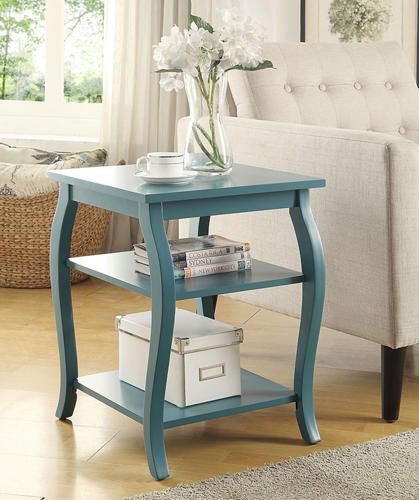 Becci Teal (Blue) Storage End Table